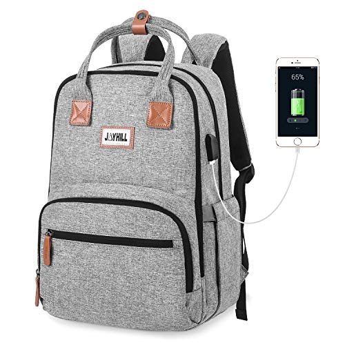 Travel Laptop Backpack, College School Business Backpacks with USB Charging Port, Waterproof Computer Bag for Women & Men Fits 15.6 Inch Laptop Notebook