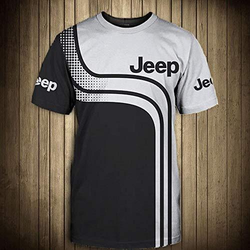 CSHASHA Sudadera con Capucha Sudadera 3D - Jeep Impreso con Capucha Uniforme De Béisbol Spring Casual Sportswear Coat Top T-Shirt - Adolescentes Regalo Short Sleeve-XL