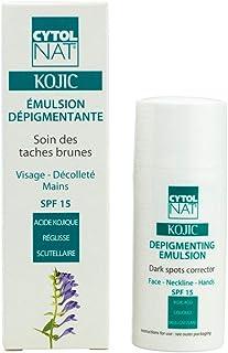 CYTOLNAT® KOJIC 30 ml – Emulsión Despigmentante 30 ml – Cuidado de las manchas marrones – Rostro escote manos - SPF 15