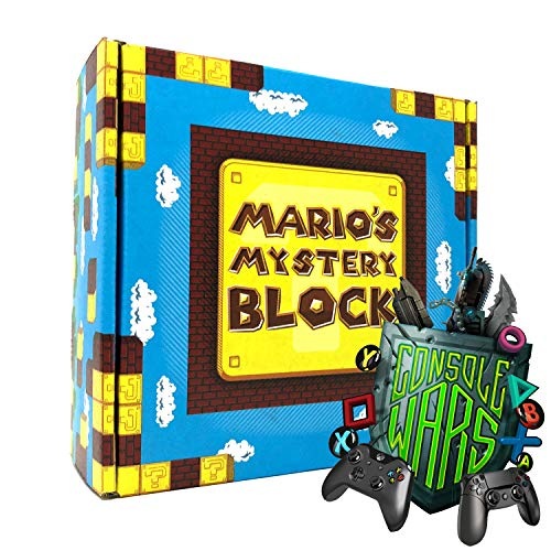 Mario's Mystery Block: Console Wars! - Gift Box Set of Mystery Toys, Novelty, Candy, and Much More f