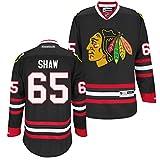 Reebok NHL Eishockey Trikot Jersey Premier Chicago Blackhawks Andrew Shaw #65 Black (XXL)