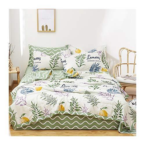 Inicio Textil de hojas de hojas de flores de hojas de verano Adultos Cama Aire acondicionado Edredón Parril de algodón fresco lavable acolchado solamente ( Color : No.06 , Size : 200x230cm(1pc) )