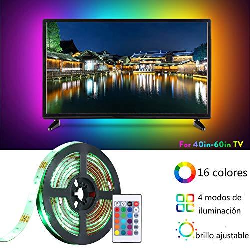 Lixada USB TV LED backlight Straps lichten voor 40-60 in TV dimbare strips Light 16 RGBW-kleuren en 4 verlichtingsmodi met infrarood afstandsbediening