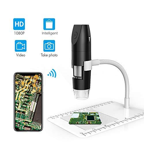 WLAN digitale microscoop met USB 1080p 1000X vergroting met 8 LED's, 12 messen
