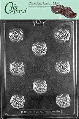 Cybrtrayd Life of the Party AO135 Rose Truffle for Filling All Occasions Chocolate Candy Mold in Sealed Protective Poly Bag Imprinted with Copyrighted Cybrtrayd Molding Instructions