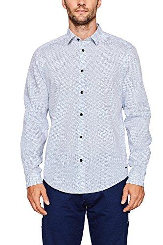 Esprit 087ee2f015 Camisa, Blanco (White 100), 42 (Talla del Fabricante: Large) para Hombre