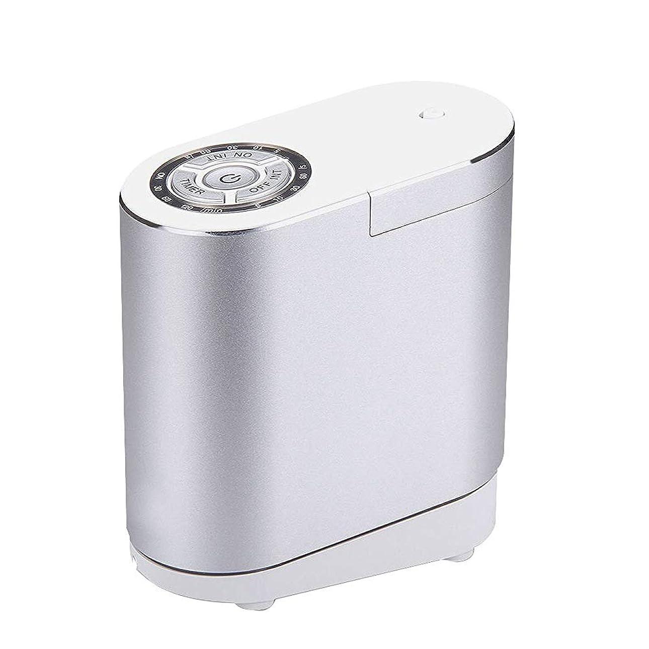 未接続技術者四半期精油の拡散器、総本店の寝室部屋のための携帯用超音波拡散器の涼しい霧の加湿器,silver30ML