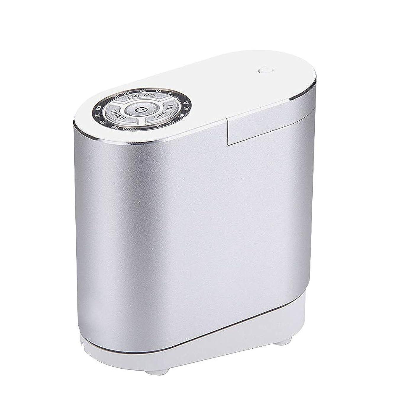 とまり木地中海手数料精油の拡散器、総本店の寝室部屋のための携帯用超音波拡散器の涼しい霧の加湿器,silver30ML