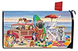 Briarwood Lane Dog Days of Summer Mailbox Cover Beach Dog Humor Station Wagon
