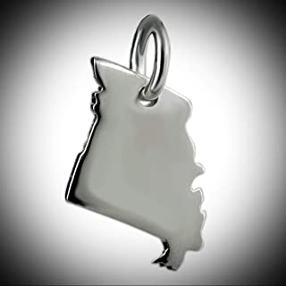 Missouri State Charm 925 Sterling Silver Show Me MO St Louis Arch Ozark South Vintage Crafting Pendant Jewelry Making Supplies - DIY for Necklace Bracelet Accessories by CharmingSS