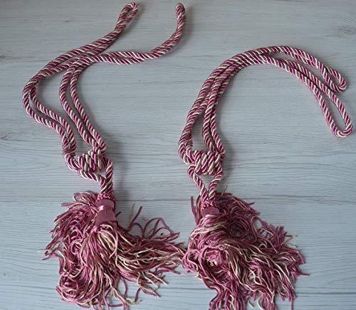 Imperial gordijnpaar EMBRASSE X gordijnen tweekleurig beige & roze kunst agaat