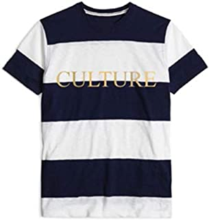 Culture Stripe Black & White T-Shirt