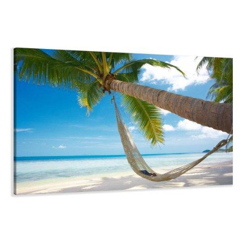 Visario Leinwandbilder 5039 Bild auf Leinwand Strand, 120 x 80 cm