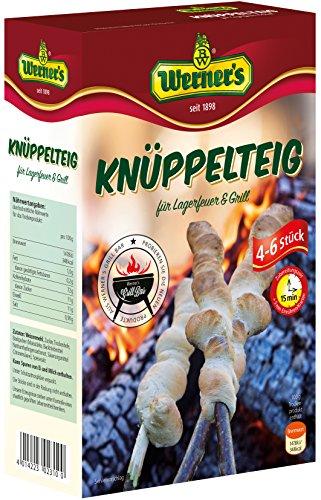 Werner´s Knüppelteig für Lagerfeuer & Grill, Backmischung für 4 - 6 Stück, zum backen über Lagerfeuer oder Grill, 6 Packungen pro Karton, (4,66 € / kg)