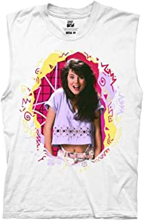 Ripple Junction Saved by The Bell Adult Unisex Kelly Scribbles Light Weight 100% Cotton Crew Muscle Tank Top