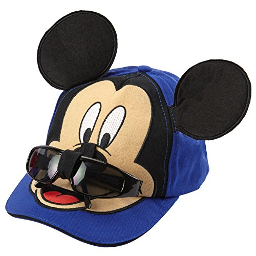 Disney Mickey Mouse Boys Baseball Cap with Removable Sunglasses [2013] Blue