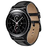 Sundaree Compatible avec Galaxy Watch Active2/42MM/Gear Sport Bracelet,20MM Bracelet Remplacement Montre Bande Poignet Cuir Véritable Pour Samsung Galaxy Watch 42MM/Active/Gear Sport(leather-black)