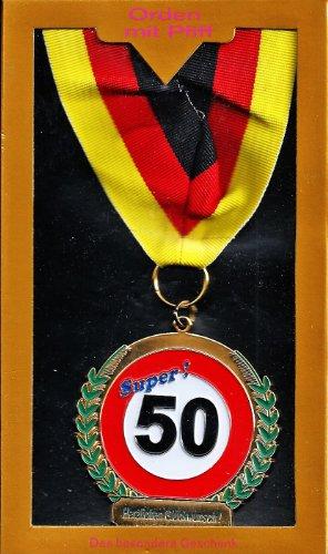 Medaille 'Super! 50. Herzlichen Glückwunsch'