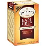 Twinings of London Decaffeinated Earl Grey Black Tea, 1.23 Ounce, 20 Count (Pack of 6)