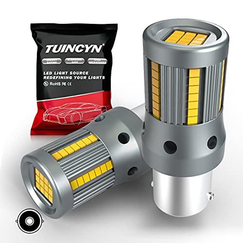 TUINCYN nouveau 1156 ba15s p21w ampoule LED blanche sans erreur CANBUS S25 1141 1003 7506 ampoule avec résistance de charge intégrée 12 V de secours RV camping-car feu arrière feu arrière