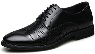 [WEWIN] ビジネスシューズ メンズ 本革 革靴 オフィスメッシュ サンダル 外羽根 ウォーキング ストレートチップ カジュアル 蒸れない 通気性 防臭 黒 ブラック