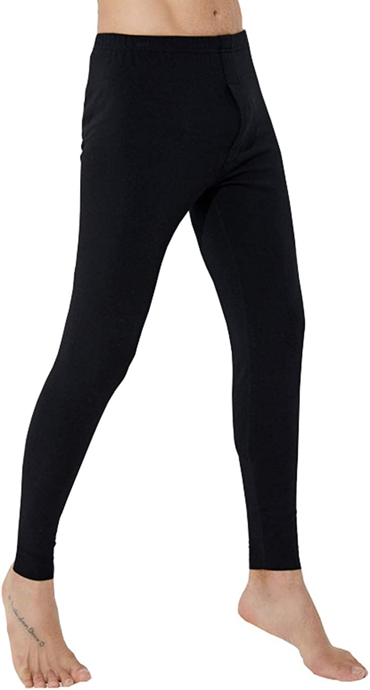 Thodays Men's Fleece Lined Base Layer Bottom Long Johns Thermal Leggings