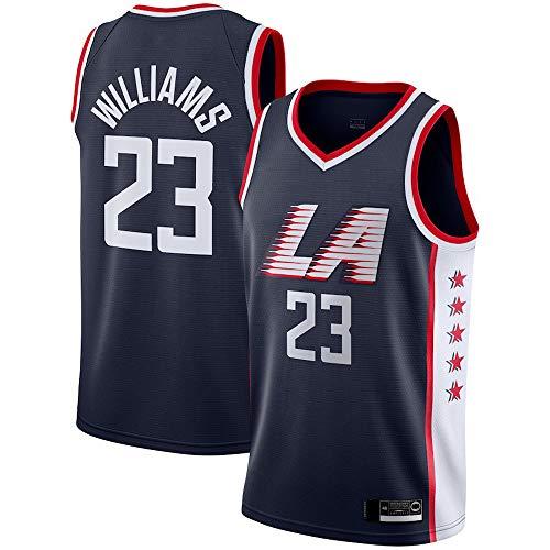 HS-XP Baloncesto Masculino Jersey - Clippers Leonard 2# / 23# Williams Deportes Jersey Camiseta Uniformes Transpirable De Secado Rápido Chaleco sobre El Tema del Juego,23#,XL(180~185cm)