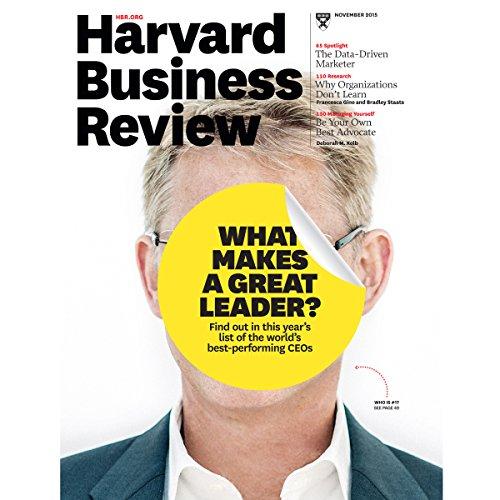 Harvard Business Review, November 2015 audiobook cover art