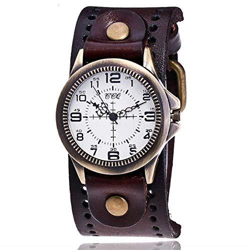 Reloj Hombre Relojes De Cuarzo De Cuero De Vaca Mujer Reloj De Pulsera De Bronce Reloj Informal Reloj De Pulsera Reloj Relogio Feminino 8
