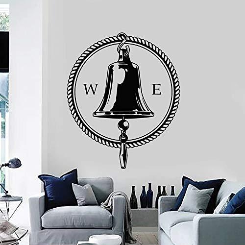 Wandtattoo Sea Bell Circle Kompass West East Ocean Style Schlafzimmer Wohnzimmer Home Decor Vinyl Fenster Aufkleber Kunst Wandbild