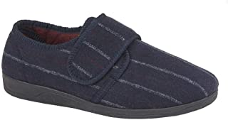 Sleepers Carl Hommes Tactile Fermeture Chaussons Marine