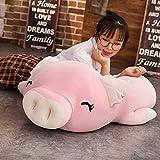 HPMM 40cm Squishy Pig Gefüllte Puppe Liegender Plüsch Schweinchen Spielzeug Tier Weiches Plüschtier Handwärmer Kissendecke Kinder Baby Tröstendes Geschenk whiteeyesclose (Color : Pinkeyesclosed)