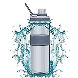 Zeewoo Botella de Agua Sin Fugas BPA Gratis para Exterior, Deporte, Escuela, Gimnasio y Gimnasio 500ml, Rosa