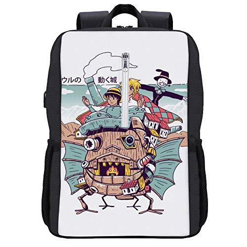 Shonen Magic Rucksack Daypack Bookbag Laptop Schultasche mit USB-Ladeanschluss
