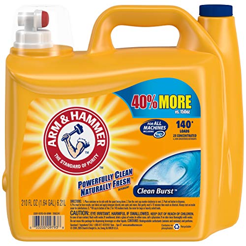 Arm & Hammer 2X Ultra Clean Burst Liquid Laundry Detergent 210 oz WLM (1)