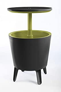 Keter Outdoor Furniture Drinks Cool Bar (Charcoal/Lime)