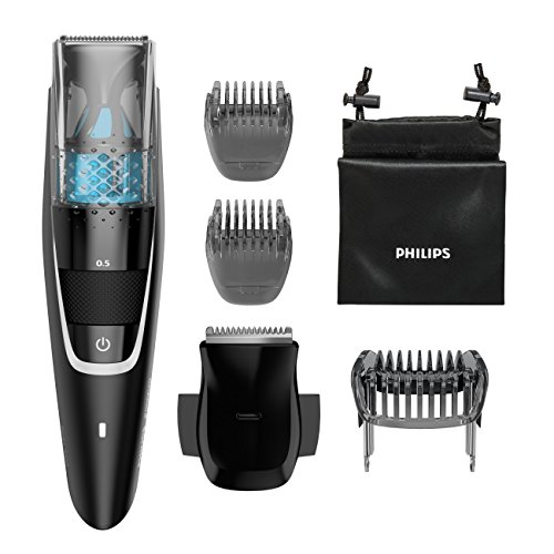 Philips Norelco Series 7200 Beard Trimmer with Vacuum BT7225/49 Black