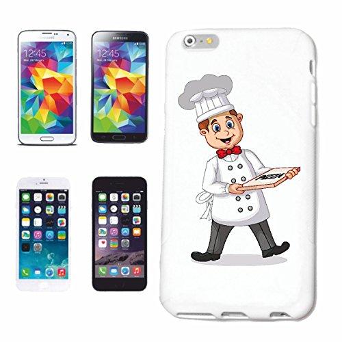 Reifen-Markt Hard Cover - Funda para teléfono móvil Compatible con Apple iPhone 5 / 5S Panadero Pizza Feliz con la Pizza en el Cuadro de Pizza Pizzeria Bringdienst