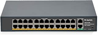 MokerLink 24 Port PoE Switch with 2 Gigabit Uplink Ethernet Port, 400W High Power, Support IEEE802.3af/at, Rackmount Unmanaged Plug and Play PoE+