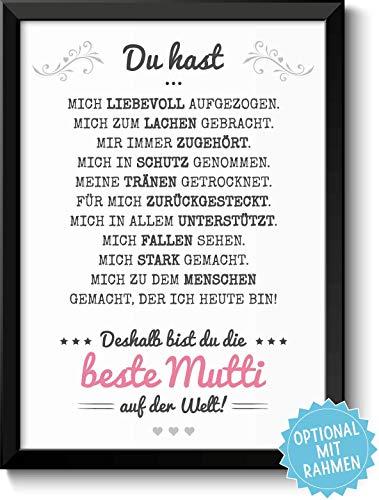 Beste Mama Bild optional mit Holz-Rahmen und Namen personalisiert Geschenk Geschenkideen Muttertag Muttertagsgeschenk Mutter
