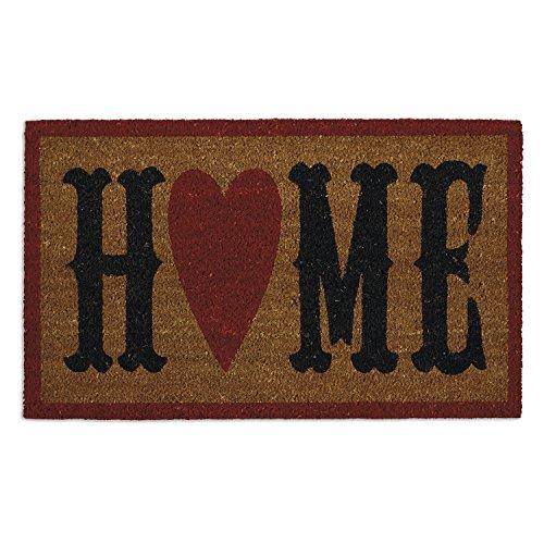 DII Indoor/Outdoor Natural Coir Easy Clean Rubber Non Slip Backing Entry Way Doormat For Patio, Front Door, All Weather Exterior Doors, 18 x 30 - Home Heart