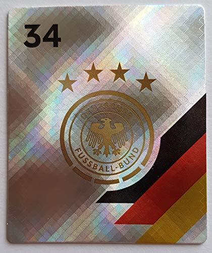 Rewe EM 2020 DFB - Sammelkarten - Glitzer - DFB Logo - Wappen - Nr. 34 - Zusatzbonus 1 toysagent Sonderkarte