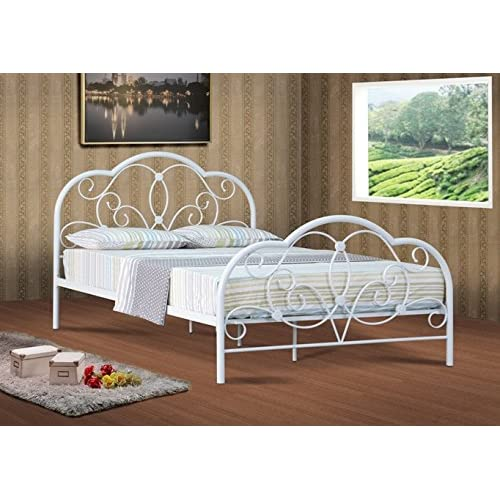 White Small Double Bed Frame Amazon Co Uk