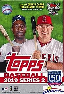 2019 Topps Series 2 MLB Baseball EXCLUSIVE HUGE Factory Sealed 67 Card HANGER Box! Look for Rookies & Autos of Vladimir Guerrero Jr, Pete Alonso, Fernando Tatis Jr, Eloy Jimenez & More! WOWZZER!