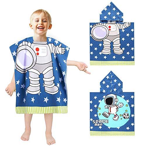 APERIL Handtuch Kinder Poncho mit Kapuze Kapuzenhandtuch Strand Bad Handtuch Dusche Schwimmen Schwimmbad zum mJungs Mädchen Kinder Kleinkind 2-8 Jahre alt Bademäntel