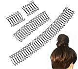 U Shape Hair Finishing Fixer Comb, Hair Pin U Shape Wavy Comb Clips, Invisible Broken Hair Clip Mini Bangs Holder Styling Tool, Insert Hairdressing Grip Clip, Women Girls Hairstyle Accessories (4PCS)