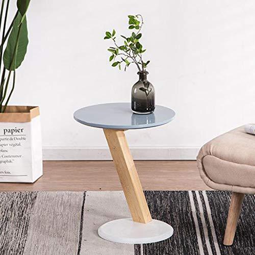 Huahua Furniture bijzettafel, ronde salontafel, bijzettafel, natuurlijk eikenhout, poten voor de woonkamer, sofatafel, 40 x 40 x 46 cm
