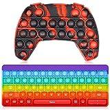 Alexsky Fidget Toy Pop on it Push it, Pop Bubble, sensorisches Zappelspielzeug für Kinder und Erwachsene, Stress-Angst-Entlastungsspielzeug für ADHS Autismus besondere Bedürfnisse