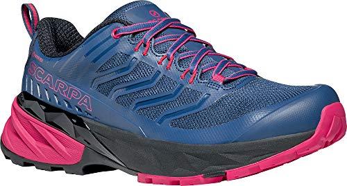 Scarpa Rush GTX WMN, Zapatillas de Trail Running Mujer, Blue-Fuxia Gore_Tex SHC Free-Dome, 39.5 EU
