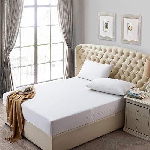 Bedtiantao matrasbeschermer, waterbestendig, matrasbeschermer met ritssluiting, glad, waterdicht, wanzenbestendig, matrasbeschermer, volledig bekleed met schuimrubberen matras
